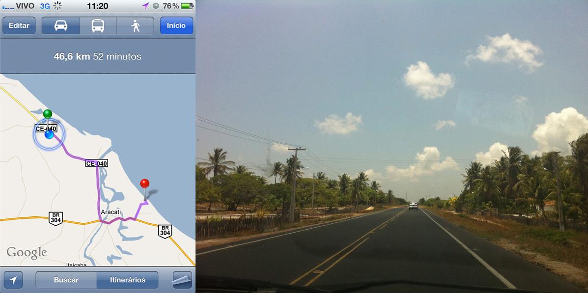 Fortaleza > Canoa Quebrada - Restando 46km