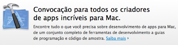 Mac App Store - Convocação aos desenvolvedores - ©Apple Inc.