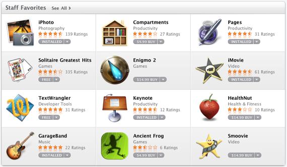 Mac App Store - Apps Instalados