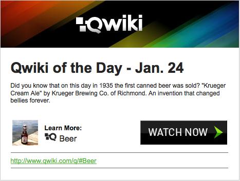 Qwiki - Sugestão de busca por e-mail