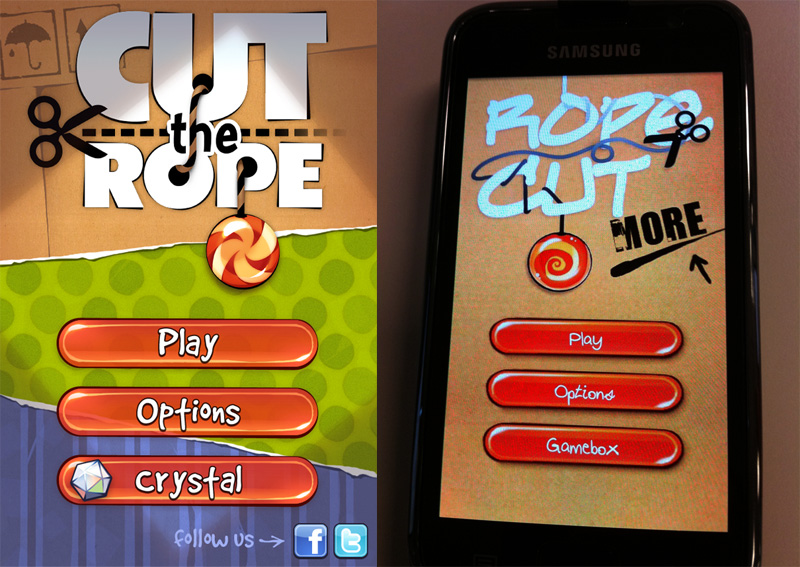 Cut the Rope vs Rope Cut - Tela de Abertura