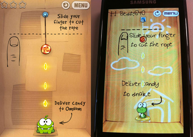 Cut the Rope vs Rope Cut - Primeira Fase