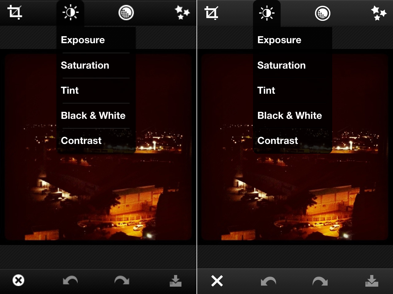 Photoshop Express - iPhone - Antes e depois do Retina Display