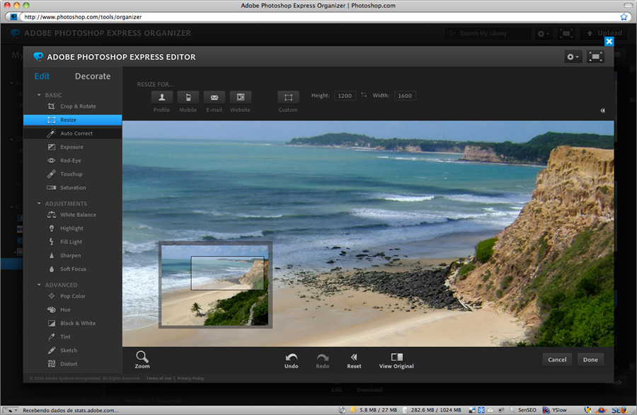Photoshop Express - Resize