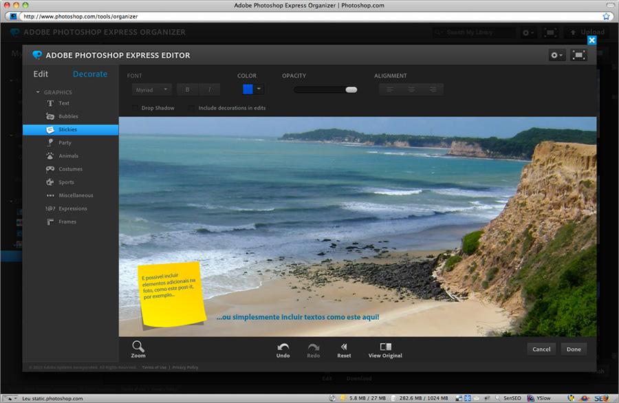 Photoshop Express - Edição de textos...