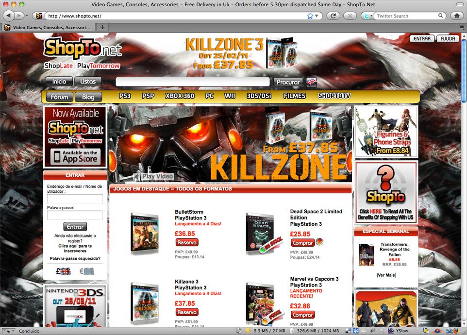 ShopTo.net - Paraíso dos games no exterior
