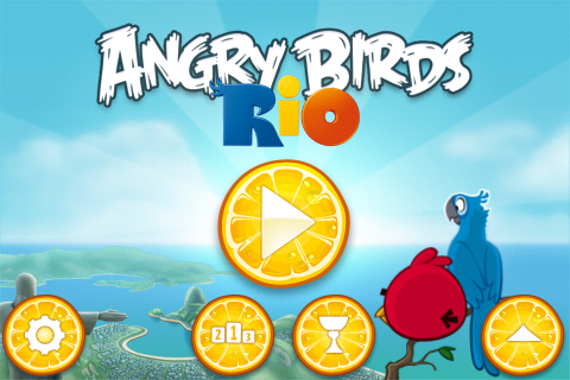 Angry Birds Rio - iPhone - Tela inicial