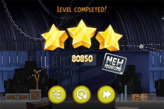 Angry Birds Rio - iPhone - Level completed!