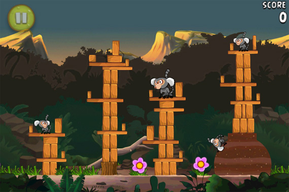 Angry Birds Rio - iPhone - Derrubando macacos...